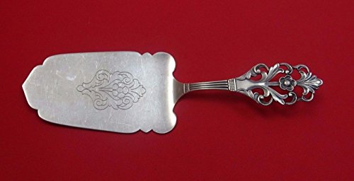Sterling Flatware Pastry Server - Viking Rose by Marthinsen Sterling Silver Pastry Server All Sterling Flat 7 1/4