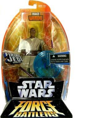 (Star Wars Force Battlers Mace Windu Firing Jedi Gauntlet Action Figure)