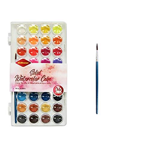 Rape Flower Hand-Painted Color Paint 36-Color DIY Solid Watercolor Paint Set