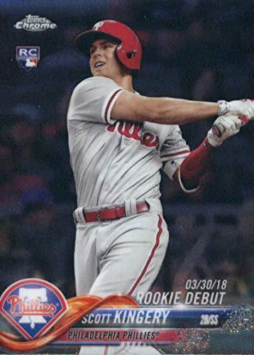 (2018 Topps Chrome Update #HMT30 Scott Kingery Philadelphia Phillies Rookie Baseball Card)