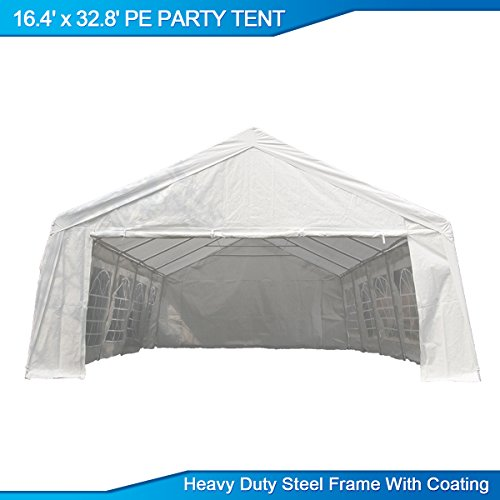 U-MAX 16.4\'W x 32.8\'D Heavy Duty Outdoor Wedding Carport Canopy ...