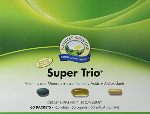 Nature's Sunshine Super Trio, 30 Day | Vitamin Packs for Men and Women Provide a Potent Blend of Vitamins, Minerals, Essential Fatty Acids, and Antioxidants