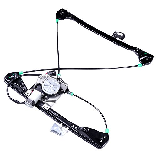 cciyu Front Right Passengers Side Power Window Lift Regulator With Motor Assembly Replacement Replacement fit for 1999-2005 Pontiac Grand Am 4 Door 1999-2004 Oldsmobile Alero 4 Door ()