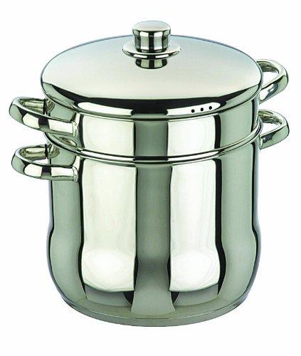 IBILI 663724 24cm (9.5inch) Couscous 6.5 litre(7qt) Steam stock pot set with lid. Couscoussier by Ibili