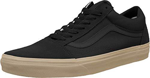 Vans Unisex Old Skool (Canvas Gum) Black/LghtGm Skate Shoe 8 Men US / 9.5 Women US