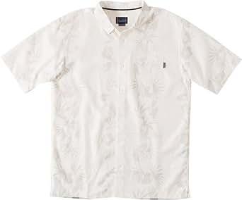O'Neill Mens Jack O'Neill Palma Button Up Short-Sleeve Shirt Small Natural