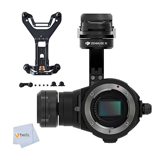 DJI Zenmuse X5 Camera and 3-Axis Gimbal (Without Lens) + Shopready DJI Original Inspire 1 Pro Zenmuse X5 Vibration Absorbing Board from Fumfie