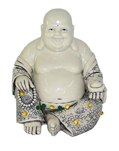 Rayes Imports K93195 Laughing Buddha Sitting Ivory 6 Inch High