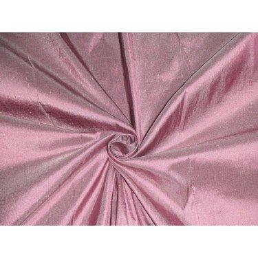 (Pure SILK DUPIONI FABRIC Rosette Mauve colour 54