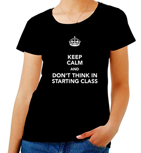 Donna Calm in Starting Don't Shirt Think Keep Nero T TKC2457 Class And p5nXcZqnW