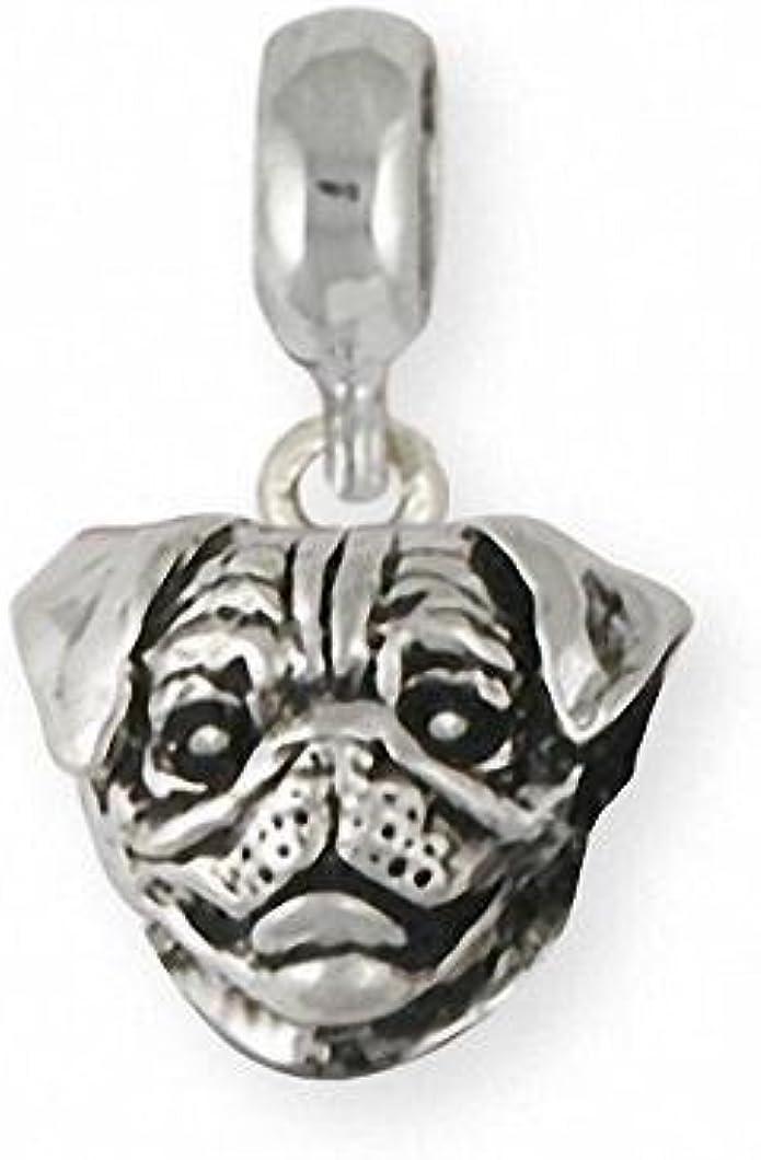 Pug Angel Jewelry Sterling Silver Handmade Dog Charm  PG29-AC