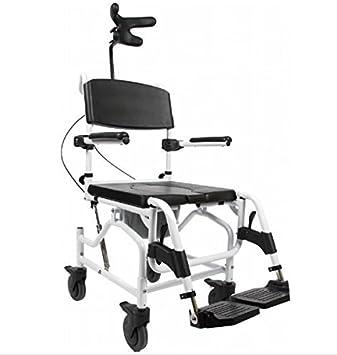 mobilex cockatoo tilt angle adjustable mobile shower chair toilet