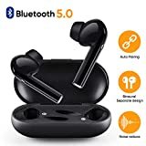 Wireless Earbuds, Wireless Headphones Bluetooth V5.0, Auto Pairing Stereo Mini Wireless Earphones with Mic & Charging Case, Noise Canceling Earbuds Bluetooth for iOS Android Windows Smart Phone