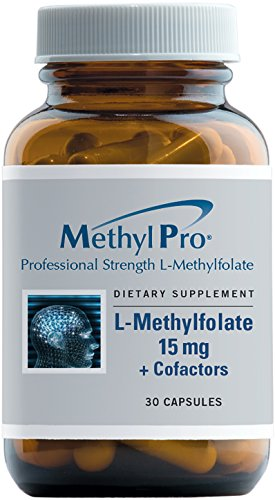 MethylPro - 5-MTHF L-Methylfolate (15 mg) + Cofactors - Active Folate plus Methyl B12 & B6 (P-5-P), 30 Capsules by MethylPro