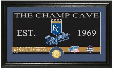 MLB Kansas City Royals 2015 World Series Champions Champs Cave Bronze Coin Panoramic Photo Mint