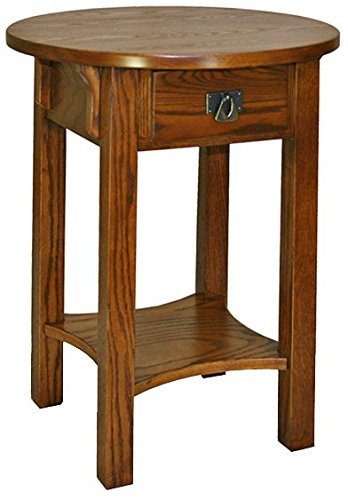 End Cabinet Round Table (Leick Anyplace Side End Table, Russet)