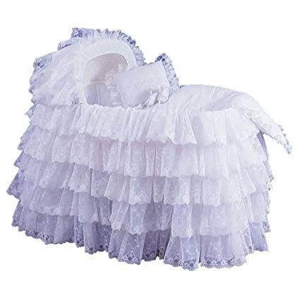 Babydoll Extravaganza Bassinet Liner/Skirt & Hood, White, 17' x 31'