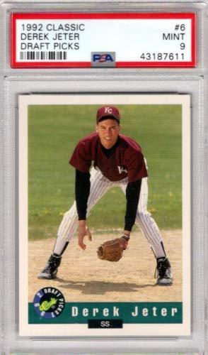1992 Classic Draft Picks #6 Derek Jeter - Graded PSA Mint 9 - New York Yankees