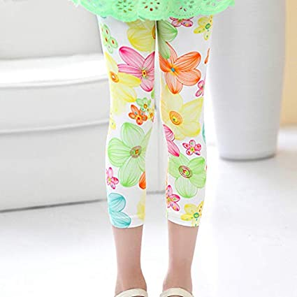 Ceguimos Leggings Collant 3//4 Corti per Bambina e Ragazza 3 Paia