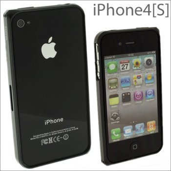 AVNIR PARTNERS GRAMAS Aluminum Bumper for iPhone 4S/4 (Charcoal/Squared)]()