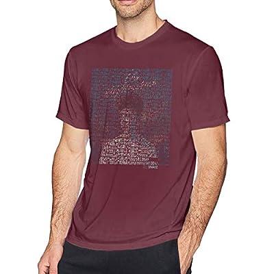 Aergaerg387 Middle DJ Snake Mens T-Shirt for Teenager Burgundy L