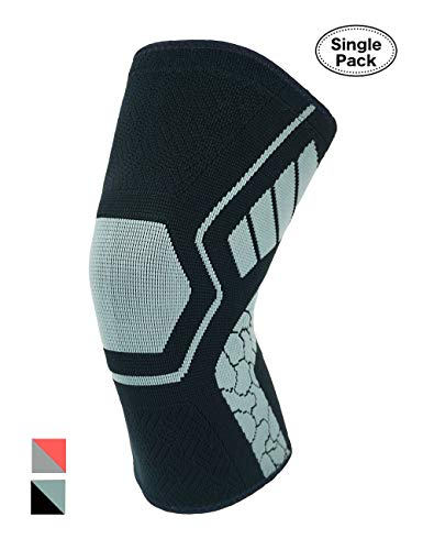 (Atercel Knee Brace, Compression Knee Sleeve Support Arthritis, Pain Relief, Running, Hiking, Basketball More Men & Women (Black/Gray, XL))