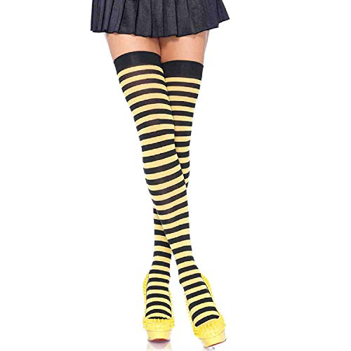 Leg Avenue Womens Nylon Striped Stockings