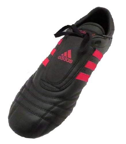 Adidas Low Cut Sneakers, Black with Red Stripes, 5.5 by adidas