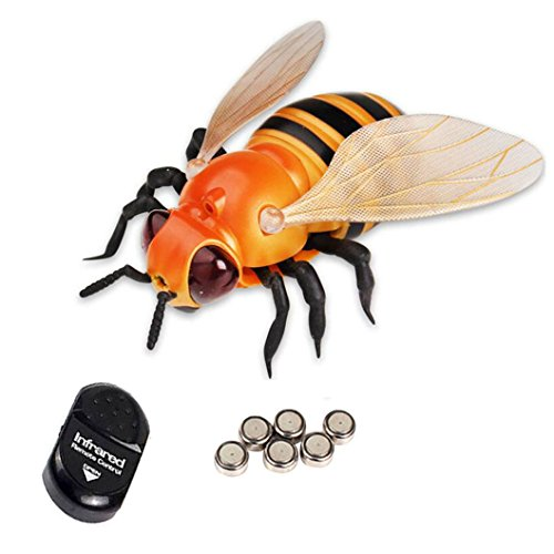 NiGHT LiONS TECH ® Novelty insect Infrared Remote Control Fake bee Animal Toy Funny RC Prank joke scary trick toys For Party or Halloween Christmas -