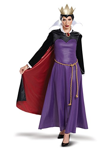 Disguise Women's Evil Queen Deluxe Adult Costume, Purple, L (12-14)