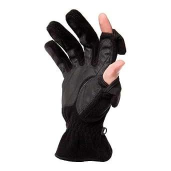 Freehands Mens Fleece Gloves - Black, Large