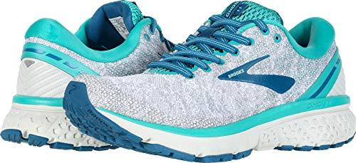 Brooks Women's Ghost 11 White/Grey/Latigo 8.5 B US (High Shoes Performance Walking)
