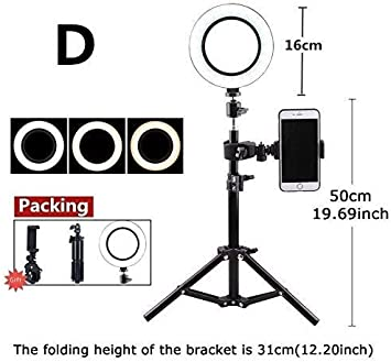 with Tripod Photography Anchor Self-Timer Multi-Function Video Large Aperture,B Led Ring Fill Light Mobile Phone Live Stand Fill Light