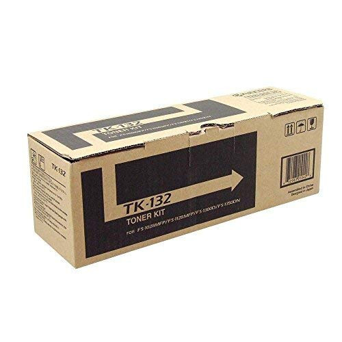 Kyocera TK-132 1T02HS0US0 FS-1300D FS-1350DN FS-1028MFP FS-1128MFP Laser Toner Cartridge (Black) in Retail Packaging