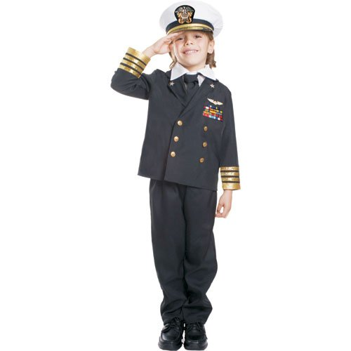 Dress Up America Navy Admiral- Medium 8-10,Blue ()