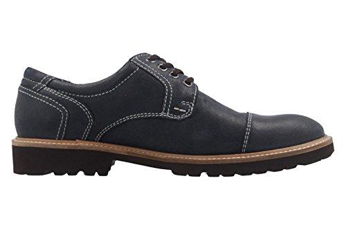 Manz - Zapatos de cordones de Piel para hombre azul azul