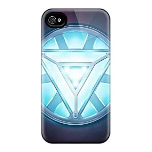 Energy Battery Case Cover Protector Specially Made For Iphone 5/5s Iron Man Heart