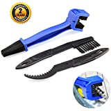 Bike Chain cleaner tool Motorcycle Set – OIBTECH Durable Bicycle Chain Gears Maintenance Cleaning Brush Kit for All Type Chain Gears(3 Kinds)