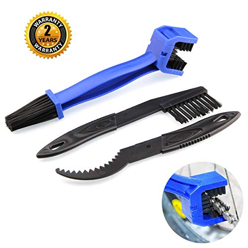 ool Motorcycle Set – OIBTECH Durable Bicycle Chain Gears Maintenance Cleaning Brush Kit for All Type Chain Gears(3 Kinds) ()