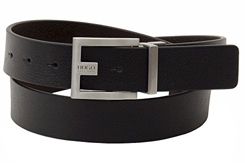 HUGO Hugo Boss Men's C-Fleming Belt, Black, (Boss Leather)