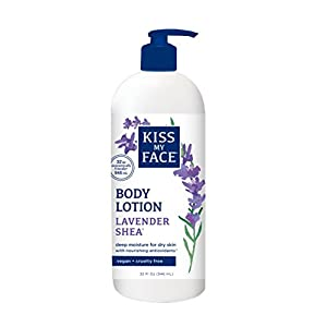 Kiss My Face Body Lotion, Lavender Shea, 32 Ounce