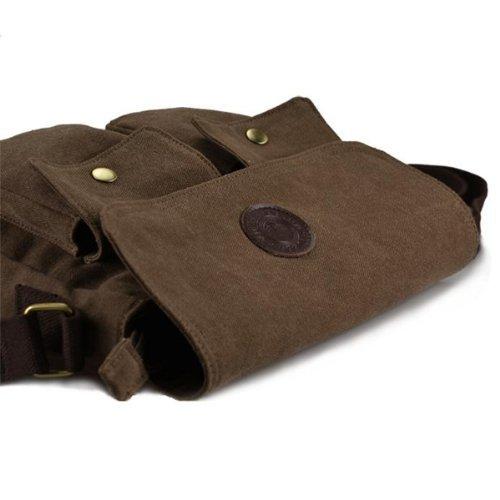 SODIAL(R)Maenner Handtaschen Tasche Umhaengetasche Schulter crossbody Tasche Messenger laessig Kaffee
