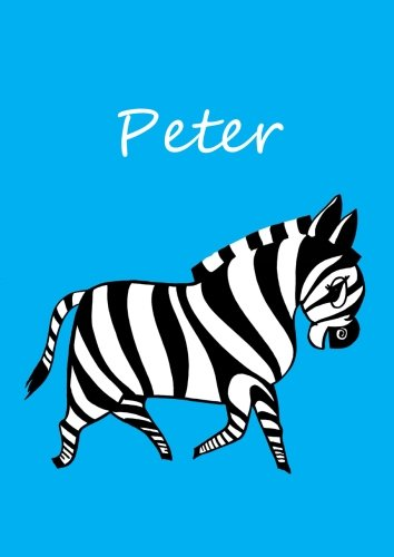 Malbuch/Notizbuch/Tagebuch - Peter: DIN A4 - blanko - Zebra