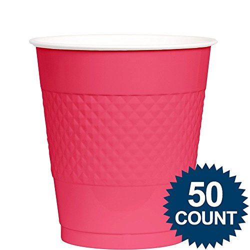[Amscan Big Party Pack 50 Count Plastic Cups, 12-Ounce, Bright Pink] (Most Extreme Halloween Costumes)