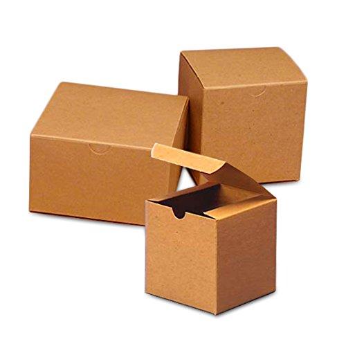 100ea - 2 X 2 X 4 Kraft Gift Box Width 2'' by Paper Mart