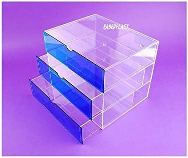 Faberplast Pepín Mueble, Metacrilato, Transparente y Azul, 35x28x28 cm: Amazon.es: Hogar