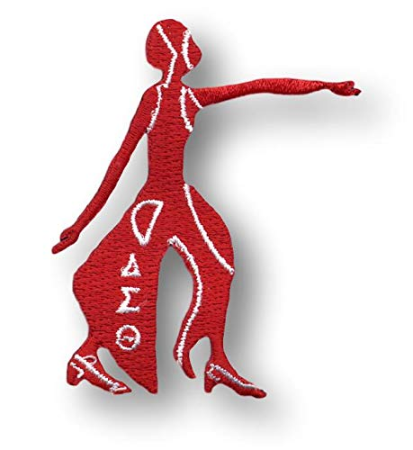 """Delta Sigma Theta 3"""" Red Signature Wings Founding Date Emblem Patch"""