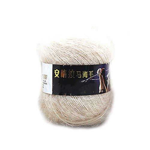 Brown Mohair Light (Fashion Soft Luxury Mohair Wool Knitting Yarn Sweater Scarf Knitting Wool-Light Brown)