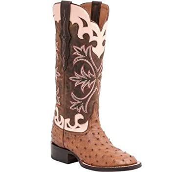 58b93287cc9 Lucchese Women's Handcrafted 1883 Rowena Full Quill Ostrich Boot Square Toe  - M4940