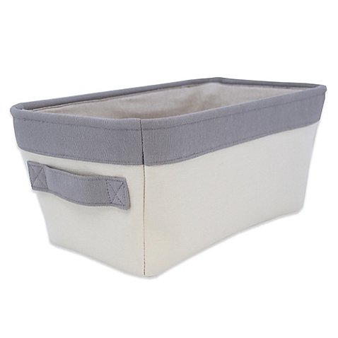 Closet Complete Natural Canvas Small Diaper Caddy in Grey